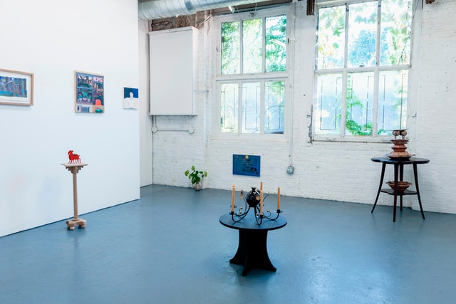 Installation view of <em>A mirror, a dish, a window</em> at Goldfinch