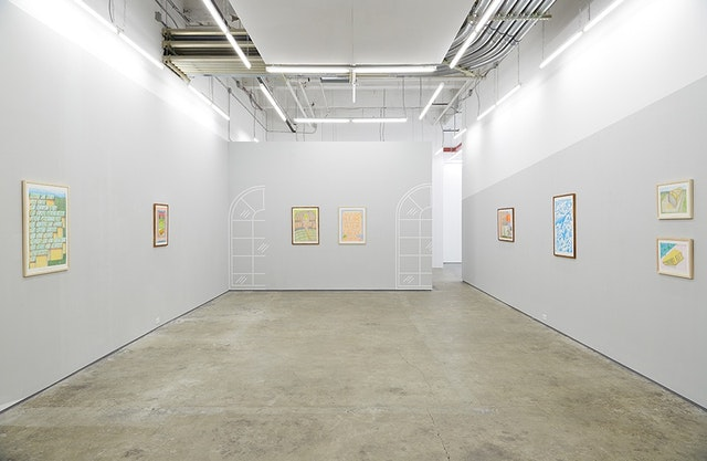 Installation view of Lex Brown, <em>They Flew to Planet Nova</em> at Kate Werble Gallery