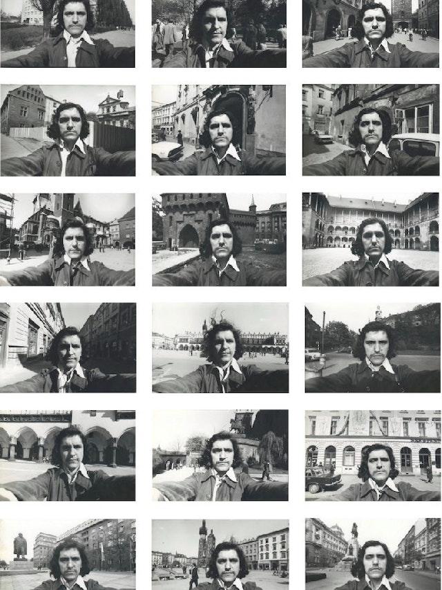 Adam Rzepecki, <em>Self-portrait with Kraków</em>, 1979.