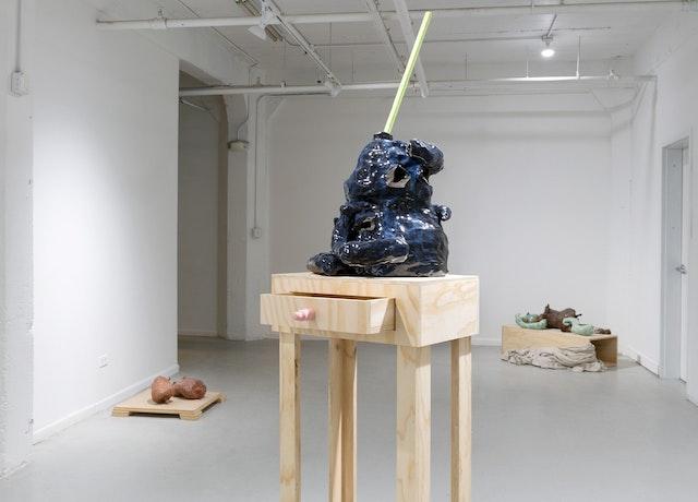 Installation view of Liz McCarthy, <em>Comprised Of</em> at 062, Chicago