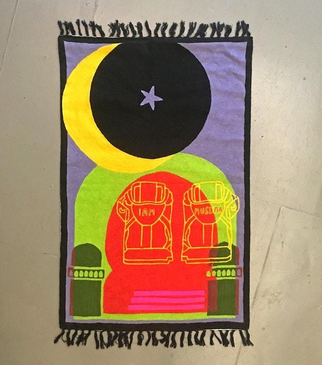 "Image of artwork titled ""Purple Heart"" by Baseera Khan"