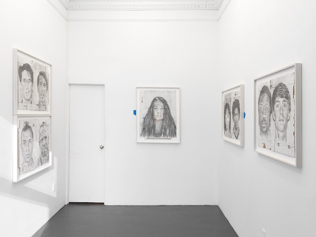 Installation view of Kunle Martins, <e>What's Up Fam?</em> at 56 Henry