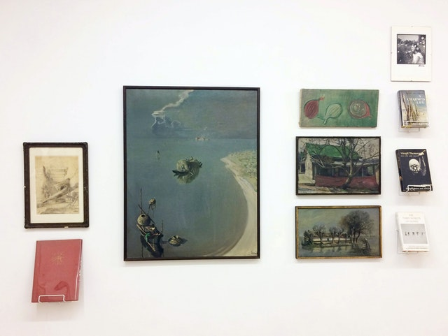 Installation view of <em>Acquired on eBay (and from other surrogate sources</em> at Mitchell Algus Gallery